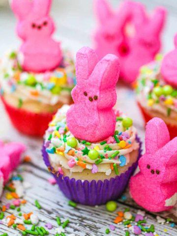 Easter Bunny Peep Cupcakes