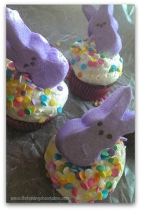 Easter Bunny Peep Cupcakes