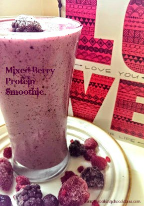 Healthy Mixed Berry Protein Smoothie