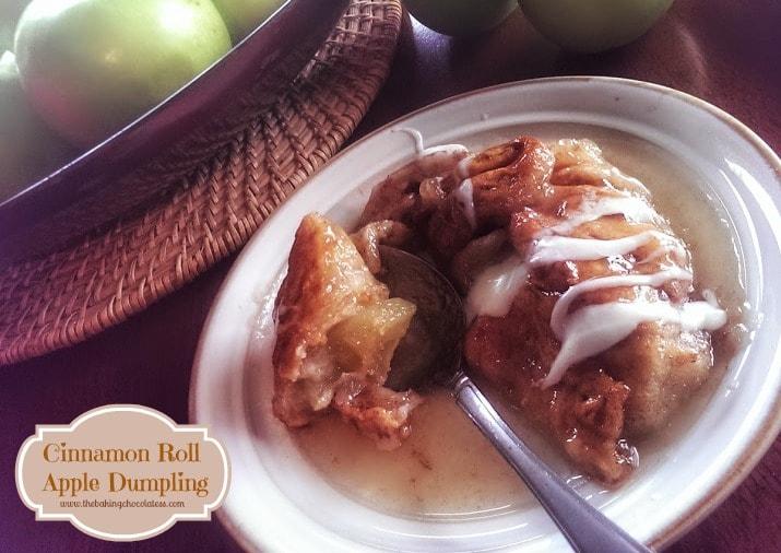 'Cinnamon Roll' Apple Dumplings