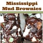 Mint Oreo Mississippi Mud Brownies