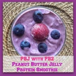 PB&J with PB2 Protein Smoothie