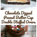 4th of July - Chocolate Dipped Peanut Butter Cup Double Stuffed Oreos