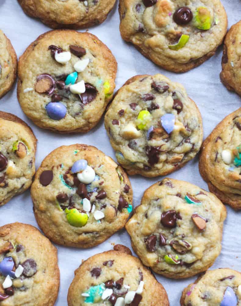 Cheesecake Pudding {Chocolate Chip, M&M} Cookies