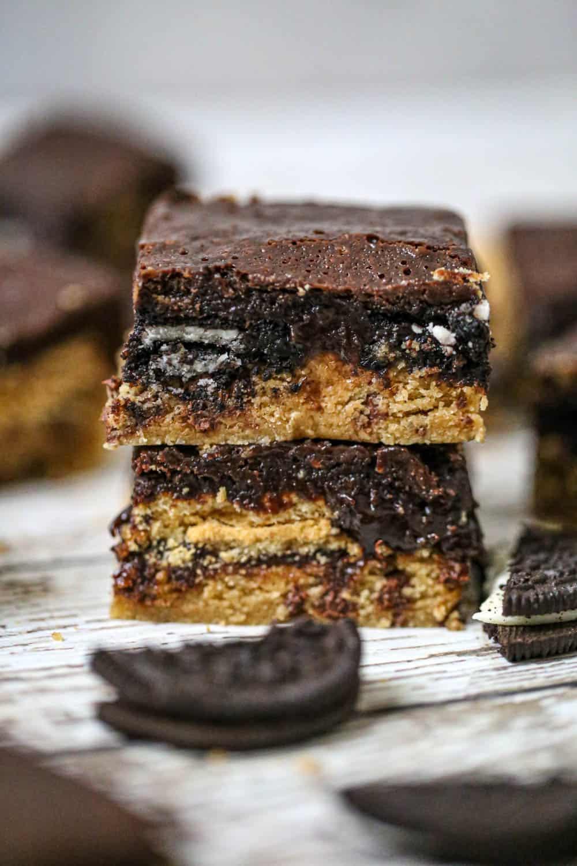 Slutty Peanut Butter Chocolate Chip Brownies