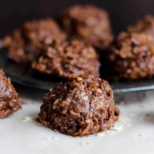 Healthy Dark Chocolate No-Bake Cookies