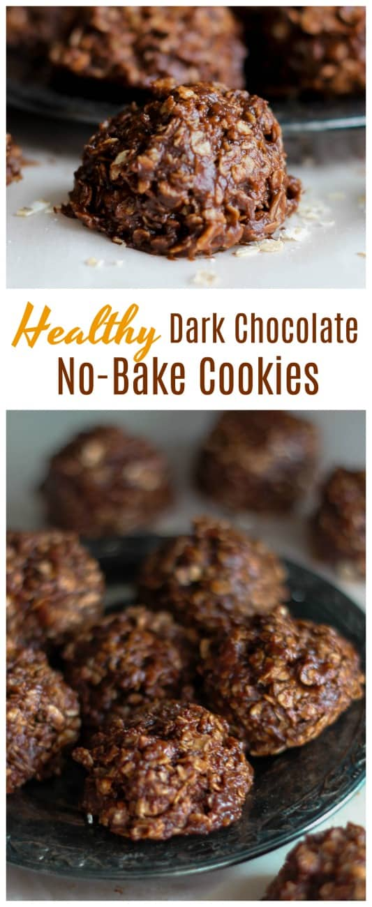 Healthy Dark Chocolate No-Bake Cookies