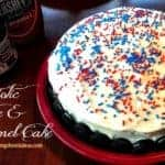 Patriotic Fudge & Caramel Party Cake