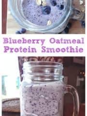 Blueberry Oatmeal Protein Smoothie
