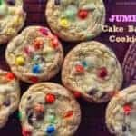 JUMBO Cake Batter Cookies {4 Main Ingredients}