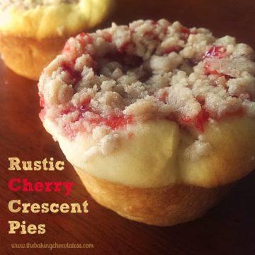 Rustic Cherry Streusel Crescent Pies