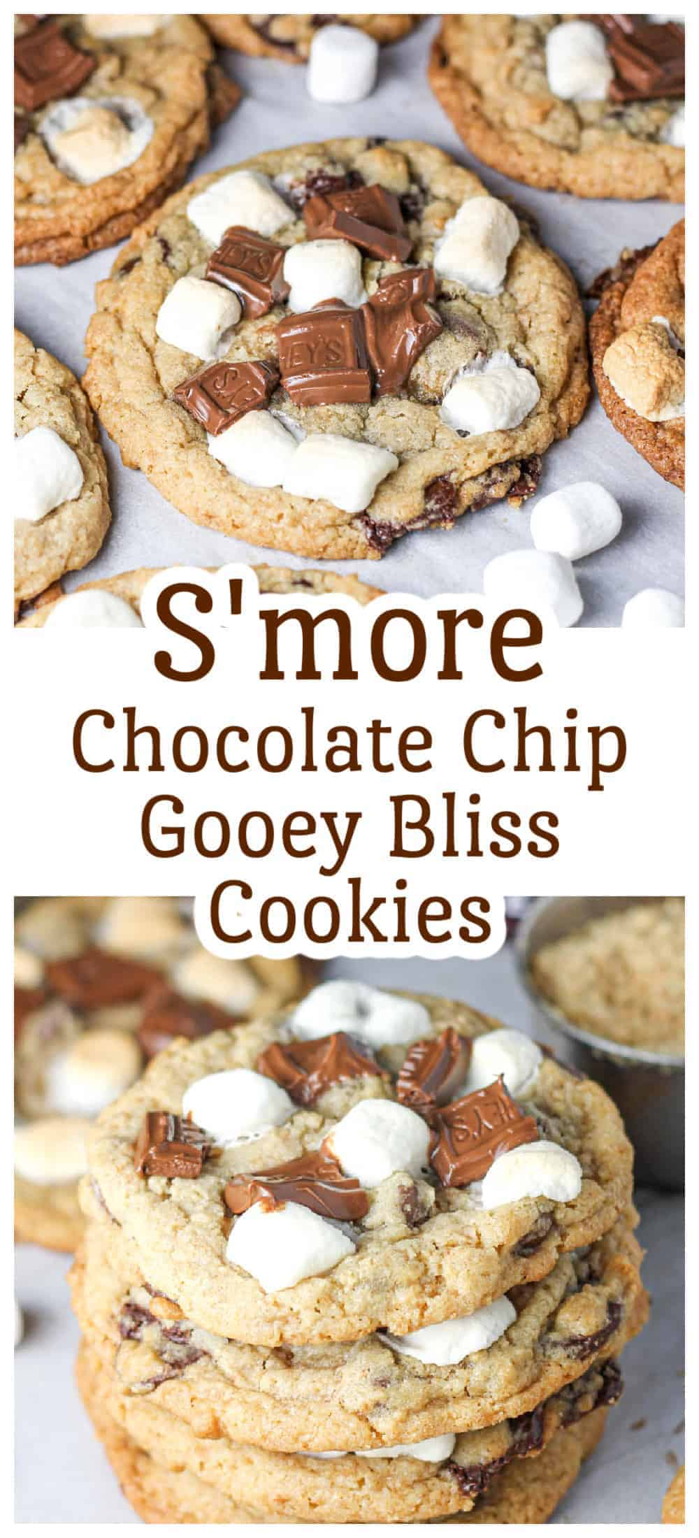 S\'more Chocolate Chip Gooey Bliss Cookies