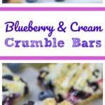 Blueberry & Cream Crumble Bars