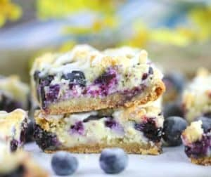 Blueberry & Cream Crumble Bars