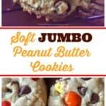Soft JUMBO Peanut Butter Cookies