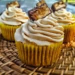Old-Fashioned Banana Spice Cakes {Peanut Butter Buttercream Frosting}