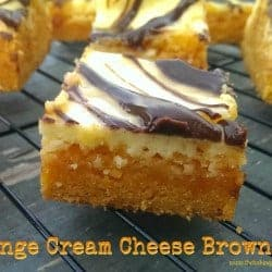 Orange Cream Cheese Brownies with Nutella