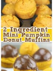 Easy 2 Ingredient Mini Pumpkin Donut Muffins
