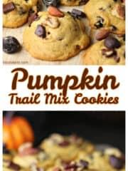 Pumpkin Trail Mix Cookies