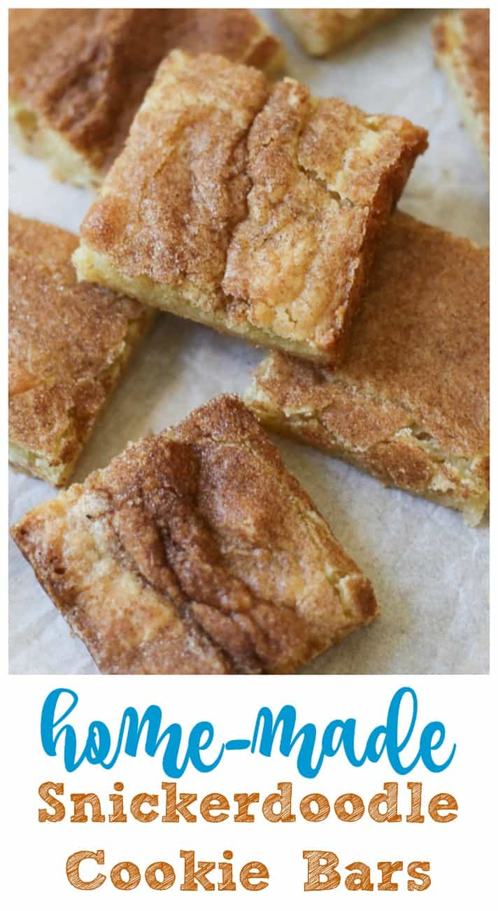 Home-made Snickerdoodle Cookie Bars!