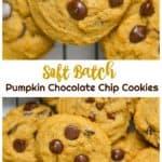 Eggless Soft Batch Pumpkin Chocolate Chip Cookies