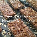 Yummy Chocolate Granola Bars – Healthy & No Bake too!