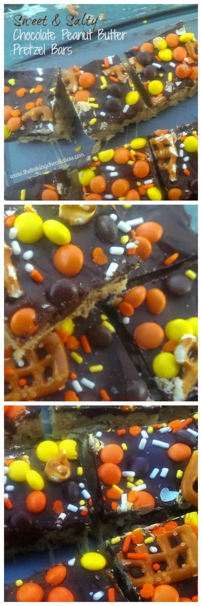 Sweet & Salty Chocolate Peanut Butter Pretzel Bars