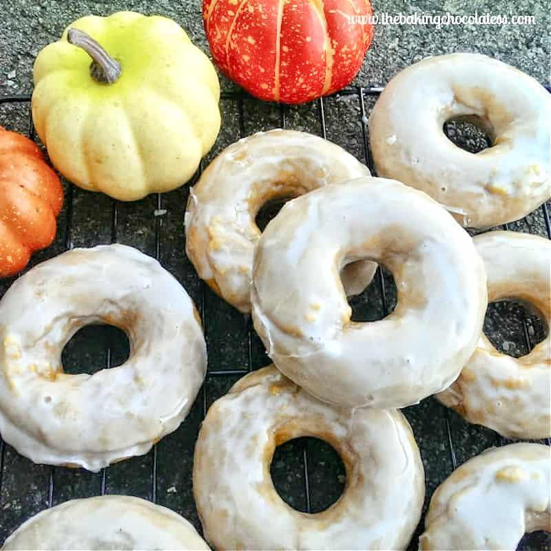 RumChata Glazed Baked Pumpkin Donuts