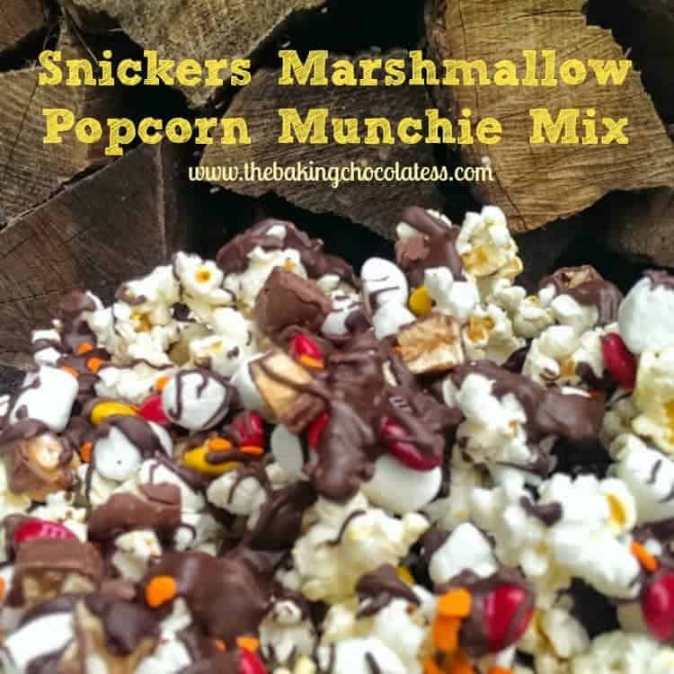 Snickers Marshmallow Popcorn Munchie Mix