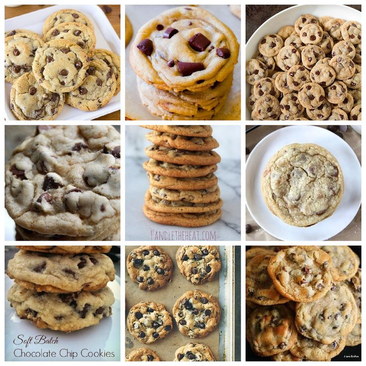Top 10 Chocolate Chip Cookies according to RecipePorn!