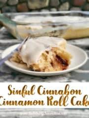 Sinful 'Cinnabon' Cinnamon Roll Cake