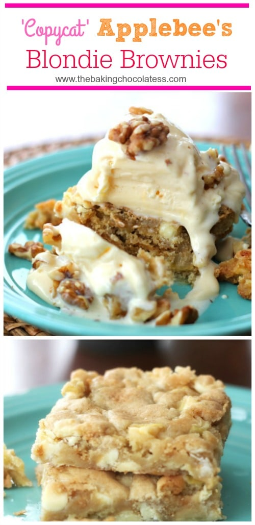 Apple Blondie Brownies {Maple Cream Cheese Glaze}