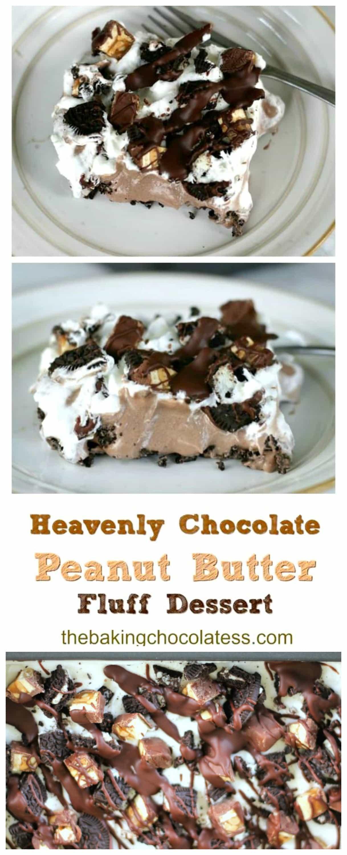 Heavenly Chocolate & Peanut Butter Fluff Dessert