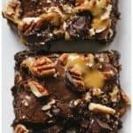 Turtle Caramel Truffle Brownies