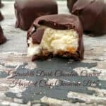 {Ghirardelli} Dark Chocolate Covered Hazelnut Crisp Cheesecake Bites!