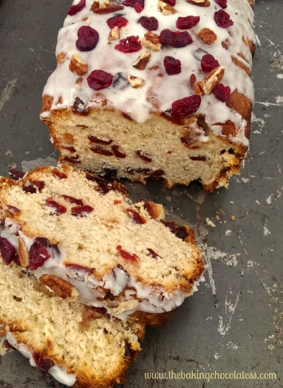 Holiday Eggnog Bread & Eggnog Glaze {Dried Cranberries & Nuts too}