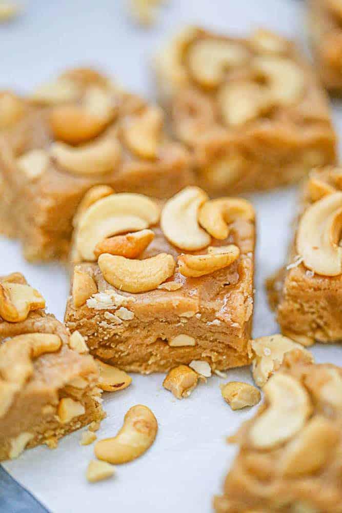 Cashew Peanut Butter Fudge