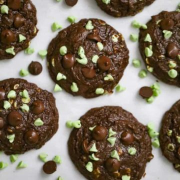 Soft Batch Chocolate Mint Chip Cookies!