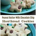 Peanut Butter Milk Chocolate Chip Shortbread Cookies!