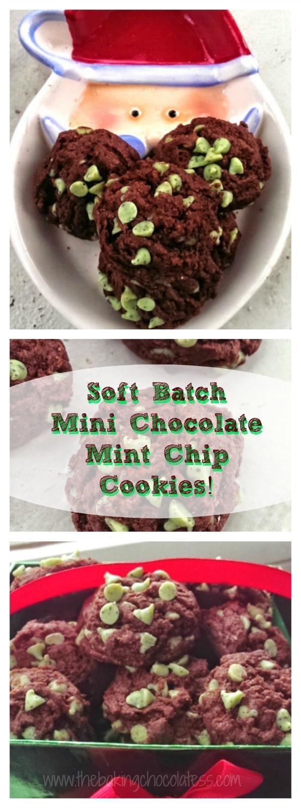 Soft Batch Mini Chocolate Mint Chip Cookies! {Fudgy too!}