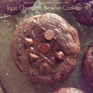 Triple Chocolate Brownie Cookies