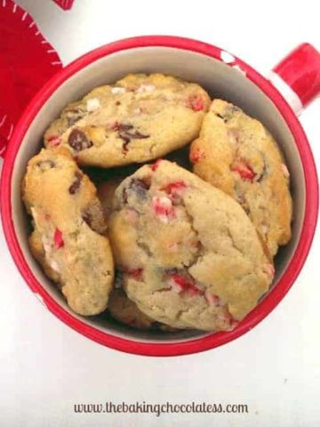 GF White Chocolate Peppermint & Milk Chocolate Chip Cookies {Cream Cheese included!}