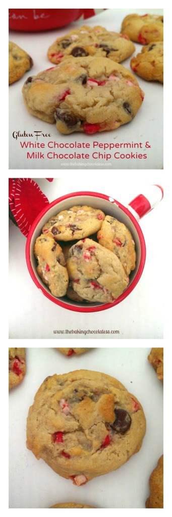 White Chocolate Peppermint & Chocolate Chip Cookies