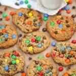 Flourless Jumbo Peanut Butter Monster Cookies! {Healthy}