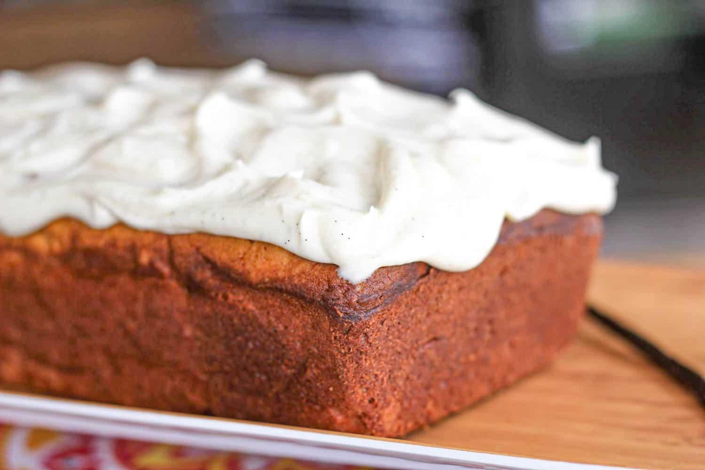 Vanilla Bean Cream Cheese Pound Cake Loaf