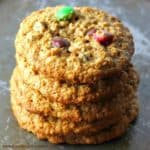 Flourless Jumbo Peanut Butter Monster Cookies! {Healthy}