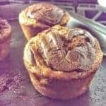 'Awesome' Banana Nutella Swirl Muffins!  {Choose GF or Regular}