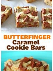Butterfinger Caramel Cookie Bars