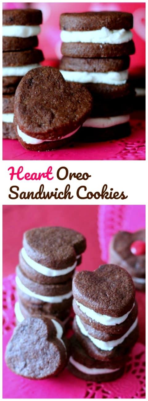 Home-made Heart Oreo Sandwich Cookies!  {Cuteness Overload}