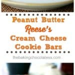 Peanut Butter Reese's Cream Cheese Cookie Bars